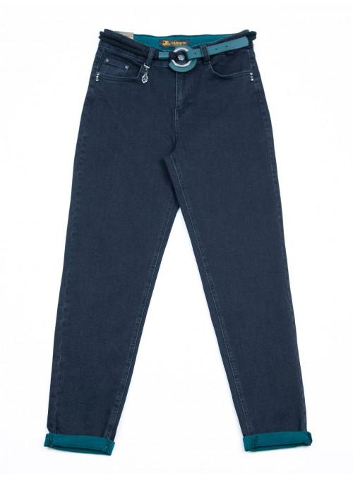 джинсы -li Carm 6516 чер(+зелен) слоуч36-42 Ж