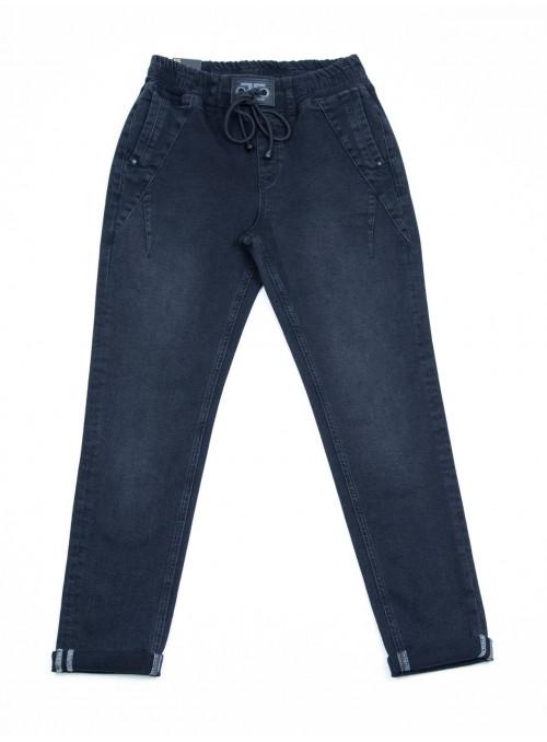 Женские джинсы на резинке серые 42-48