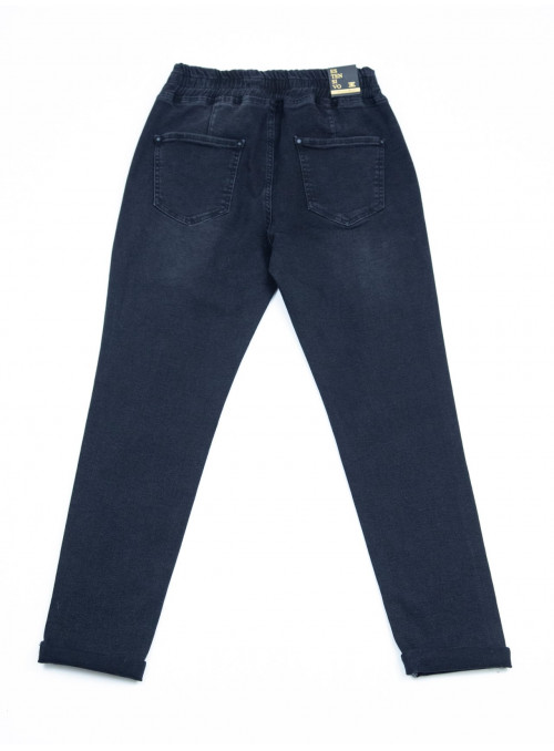 джинсы бт/ S-li Est 01681 чер-вр джог кул42-48 Ж