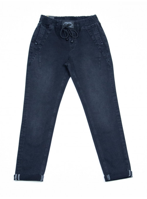 Женские джинсы на резинке серые 36-42