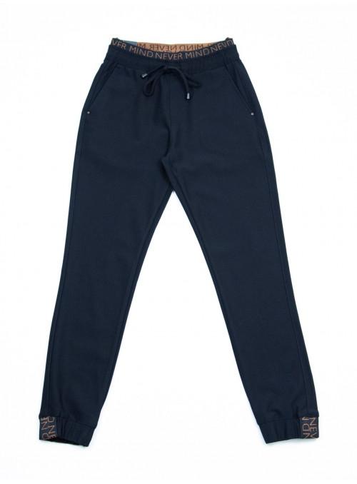 брюки S-li Est 1676 черн+кулис джог 36-42 рм Ж
