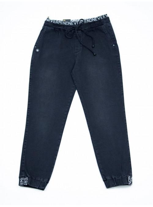джинсы бт/ S-li Est 01642 чер-вр джог кул42-48 Ж