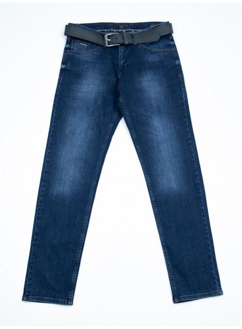 Мужские джинсы зауженные темно-синие 32-40