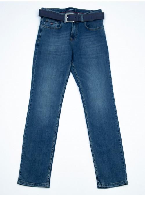 Мужские джинсы прямые темно-сине-зеленые 32-40