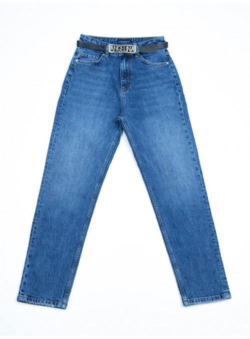 Женские джинсы МОМ синие 25-30