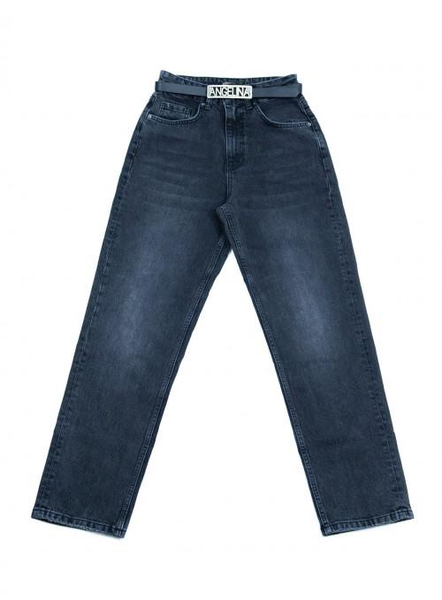 Женские джинсы МОМ серые тертые 25-30