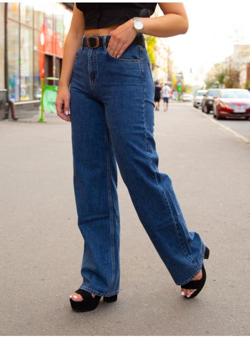 Женские широкие джинсы Палаццо синие 25-29